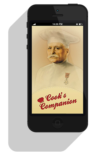 iPhone With Escoffier Cook's Companion App