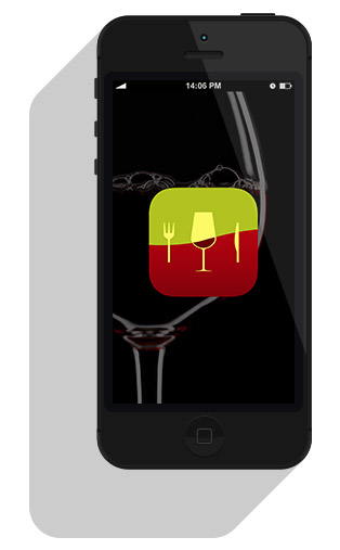 iPhone With Pocket Wine Pairing App
