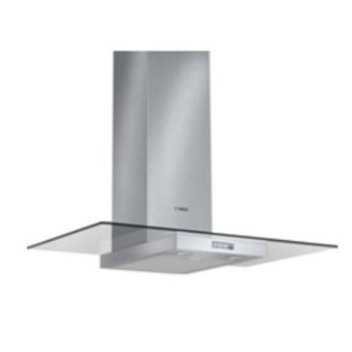 Bosch H634xW900xD540 Chimney Cooker Hood - Stainless Steel and Flat Glass