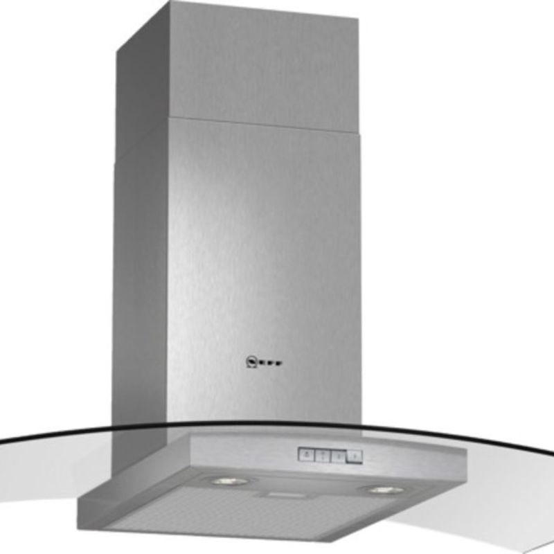 Neff H638xW900xD540 Chimney Cooker Hood - Stainless Steel and Grey Glass primary image