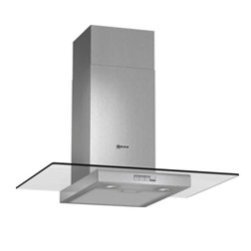 Neff H634xW700xD540 Chimney Cooker Hood - Stainless Steel and Grey Glass primary image