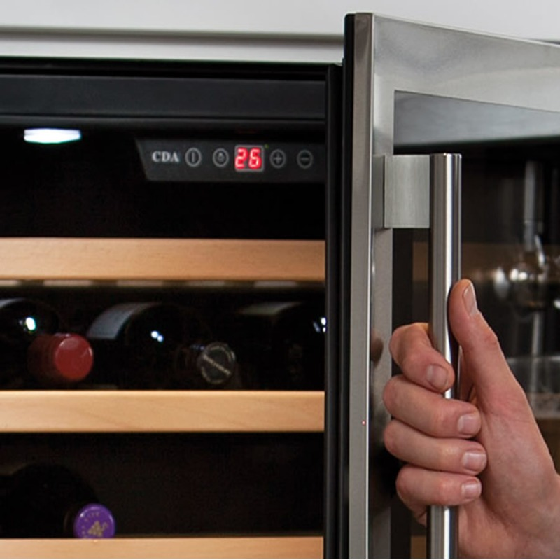 CDA H820-888xW295xD570 Under Counter Wine Cooler - Black additional image 2
