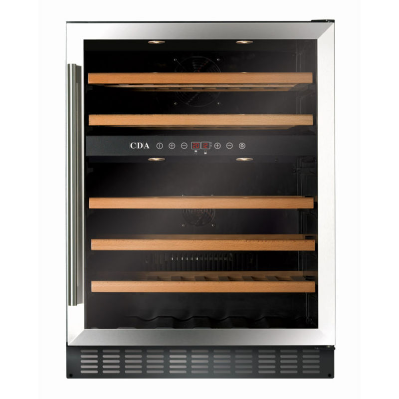CDA H820-888xW595xD570 Under Counter Wine Cooler - Stainless Steel (2 Zone) primary image