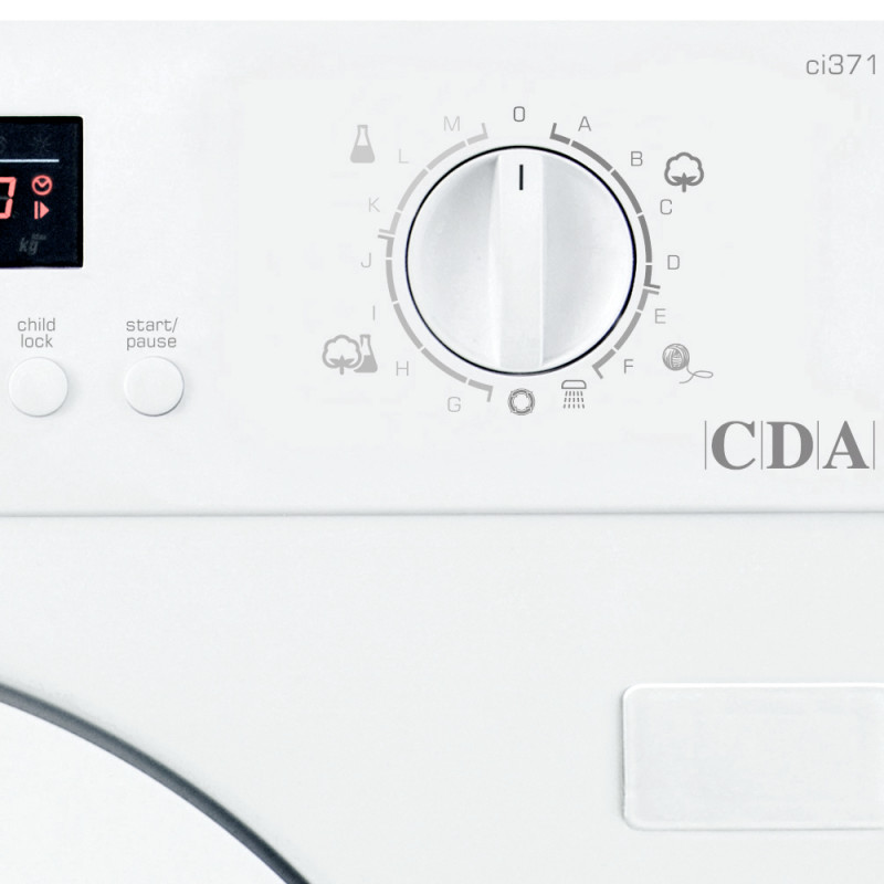 CDA H820xW596xD550 Fully Integrated Washer (7kg) additional image 1