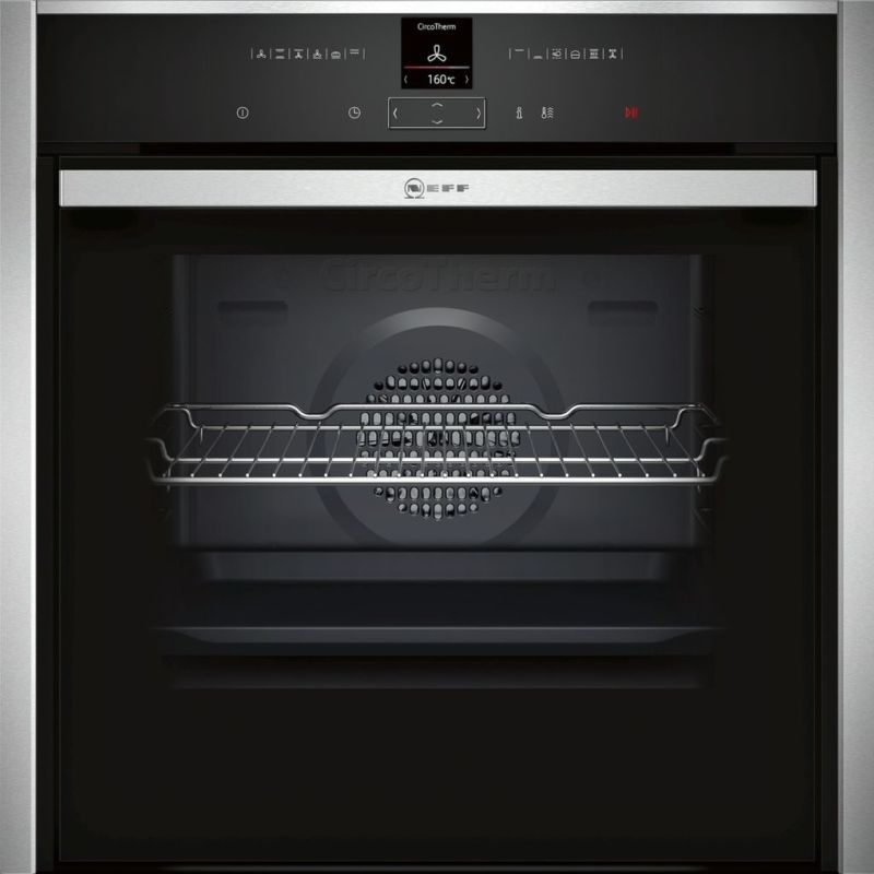 Neff H595xW596xD548 Single Multifunction Pyrolytic Oven - Stainless Steel - Slide & Hide primary image