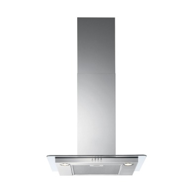 Zanussi H36xW598xD450 Chimney Hood - Stainless Steel & Flat Glass