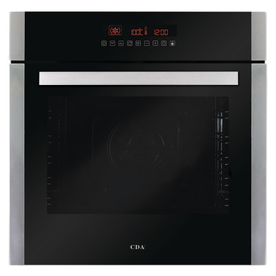 CDA H595xW595xD567 Single Multi-Function Pyrolytic Oven - Stainless Steel