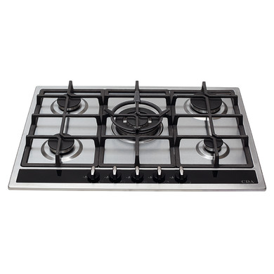 CDA H43xW680xD500 Gas Hob 5 Burner - Stainless Steel