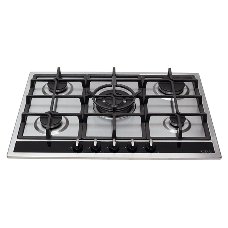 CDA H43xW680xD500 Gas Hob 5 Burner - Stainless Steel primary image