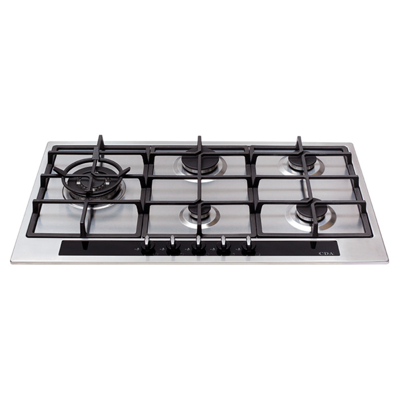 CDA H35xW860xD500 Gas Hob 5 Burner - Stainless Steel primary image
