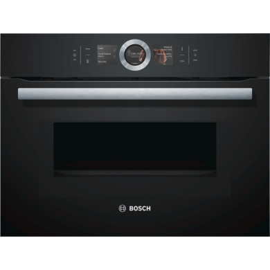 Bosch H455xW595xD548 Compact Microwave -  Black