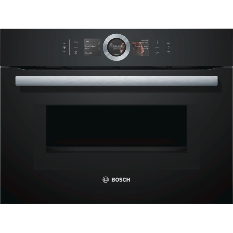 Bosch H455xW595xD548 Compact Microwave -  Black primary image