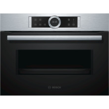 Bosch H454xW595xD563 Microwave - Brushed Steel