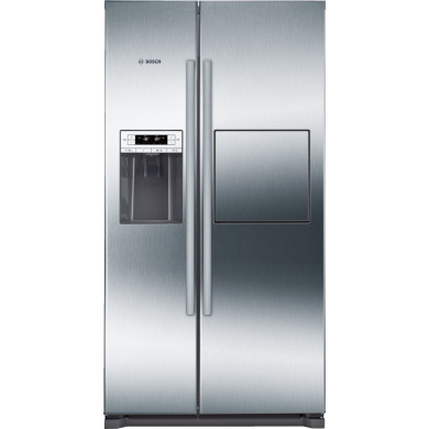 Bosch H1770xW910xD720 Side by Side Fridge Freezer - Stainless Steel