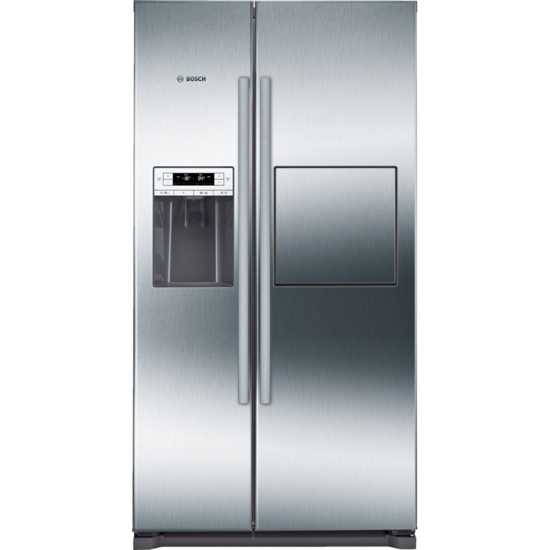 Bosch H1770xW910xD720 Side by Side Fridge Freezer - Stainless Steel primary image