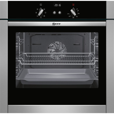 Neff H595xW595xD550 Single Multifunction Oven - Stainless Steel - Slide & Hide