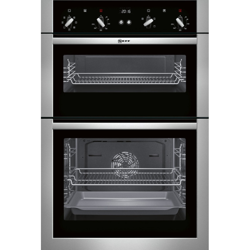 Neff H888xW594xD550 Built In Double Multifunction Oven - Stainless Steel primary image