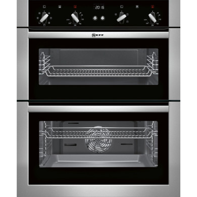 Neff H717xW594xD550 Built Under Double Multifunction Oven - Stainless Steel