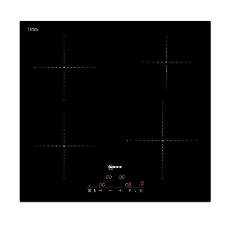 Neff H51xW592xD522 Induction 4 Zone Hob - Black Glass - T41D40X2 additional image 1