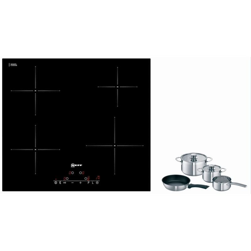 Neff H51xW592xD522 Induction 4 Zone Hob - Black Glass - T41D40X2 primary image