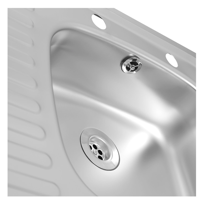 935x485 Tudor LHD S/Steel Sink and Pillar Tap Pack additional image 7