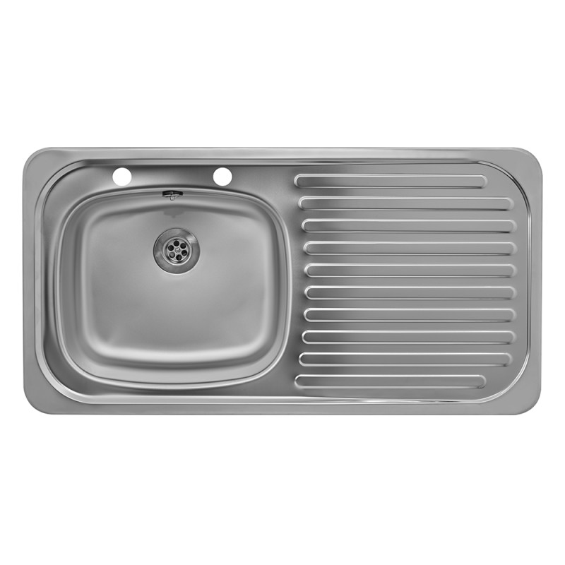 935x485 Tudor RHD S/Steel Sink and Deck Tap Pack additional image 1