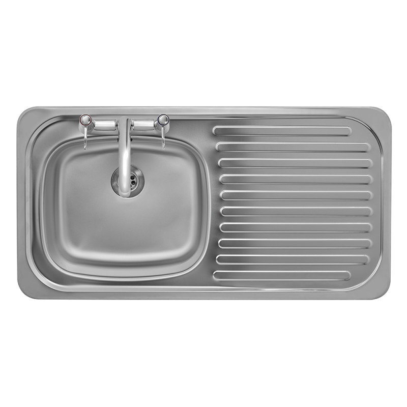 935x485 Tudor RHD S/Steel Sink and Deck Tap Pack additional image 2
