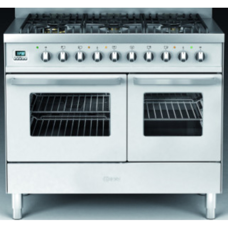 Ilve Venezia 100cm Twin Range Cooker 6 Burner Stainless Steel additional image 1