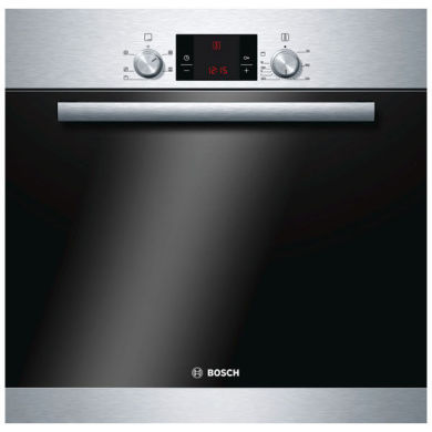 Bosch H595xW595xD548 Built-in Electric Single Fan Oven - Stainless Steel