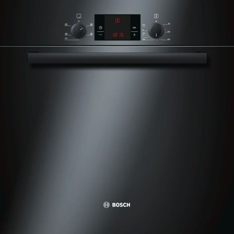 Bosch H595xW595xD548 Electric Single Fan Oven - Black primary image