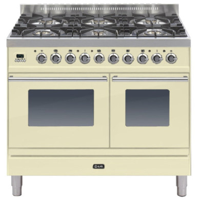 ILVE Roma 100cm Twin Range Cooker 6 Burner Cream - PDW1006E3/A