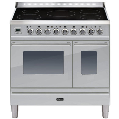 ILVE Roma 90cm Twin Range Cooker 5 Zone Induction Stainless Steel - PDWI90E3/I