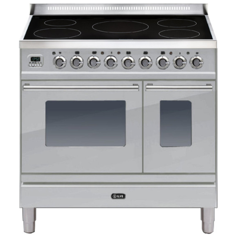 ILVE Roma 90cm Twin Range Cooker 5 Zone Induction Stainless Steel - PDWI90E3/I primary image