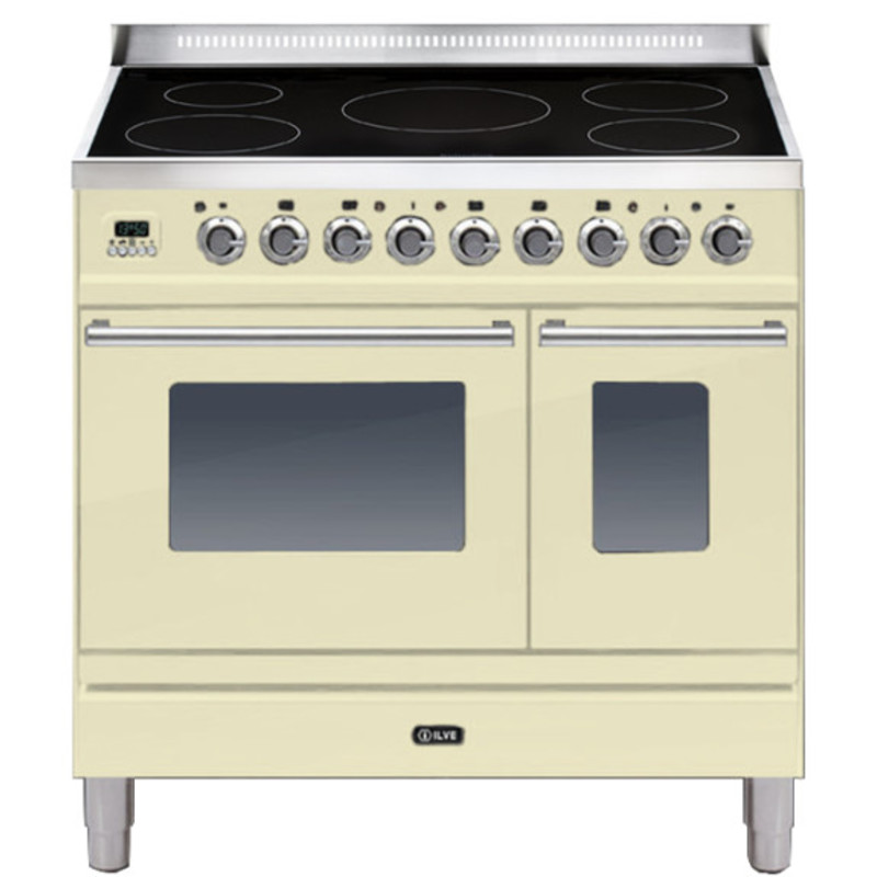 ILVE Roma 90cm Twin Range Cooker 5 Zone Induction Cream - PDWI90E3/A primary image