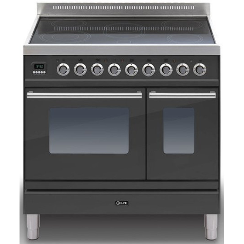 ILVE Roma 90cm Twin Range Cooker 5 Zone Induction Matt Black - PDWI90E3/M primary image