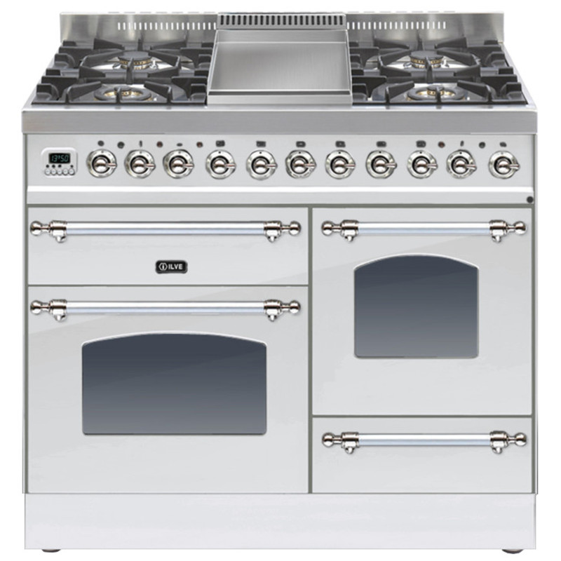 ILVE Milano 100cm XG Range Cooker 4 Burner Fry Top Stainless Steel Chrome - PTN100FE3/IX primary image