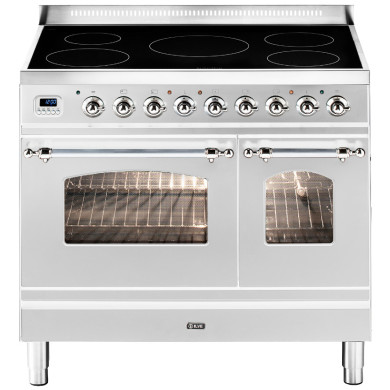 ILVE Milano 90cm Twin Range Cooker 5 Zone Induction Stainless Steel Chrome - PDNI90E3/IX