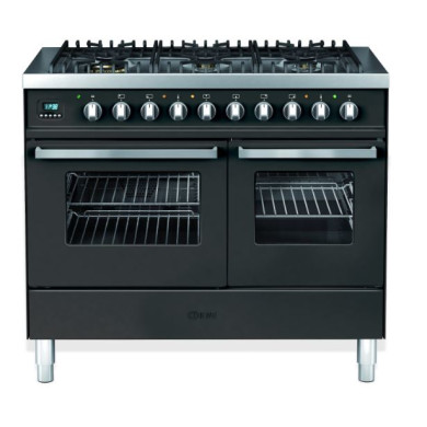 Ilve Venezia 100cm Twin Range Cooker 6 Burner Gloss Black