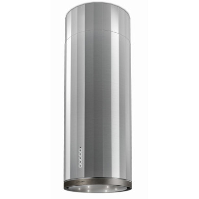 Faber H1215xW370xD370 Corinthia Island Cooker Hood - Stainless Steel / Old Metal