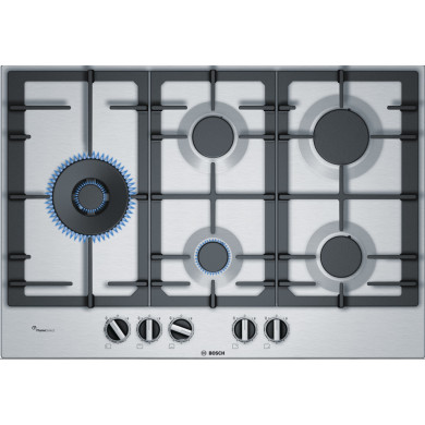 Bosch H45xW750xD520 Gas 5 Burner Hob With Flameselect-S/Steel