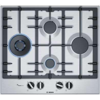 Bosch H45xW582xD520 Gas 4 Burner Hob With Flameselect-S/Steel
