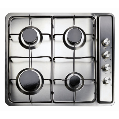 Matrix H30xW585xD500 4 Zone Gas Hob - Black