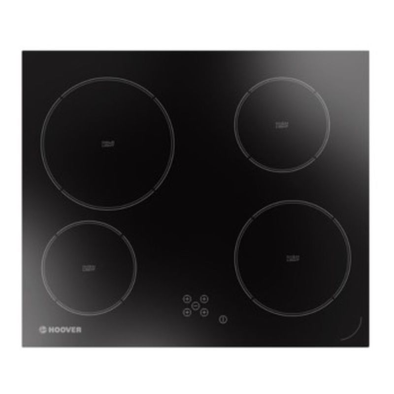 Hoover H40xW595xD510 Ceramic 4 Burner Hob - Black (Touch Control) primary image