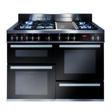 CDA H925xW1200xD600 Dual Fuel Rangecooker - Stainless Steel - RV1200SS