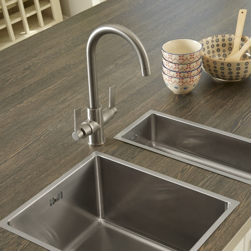 Aurora Tap Brushed Steel - High/Low Pressure additional image 1